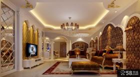 欧式别墅客厅背景墙装修效果图