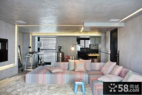 8万打造80平现代欧式风格客厅装修图片