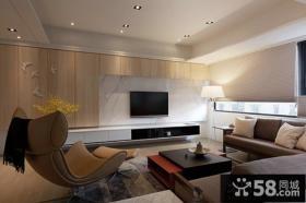室内现代榻榻米客厅电视背景墙图片