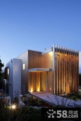 现代风格别墅外观装修效果图