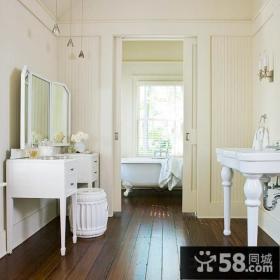 简约欧式风格浴室推拉门图片
