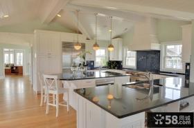开放式厨房样板间装饰效果图