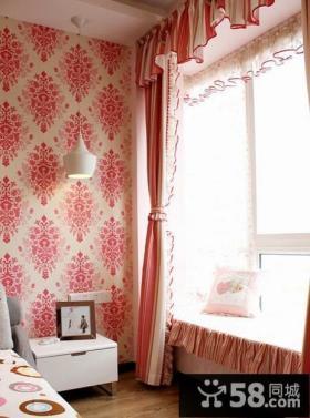 2013卧室飘窗窗帘效果图