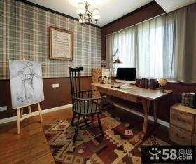 美式书房窗帘设计欣赏