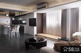 现代简约122平米三居室家居设计装修效果图