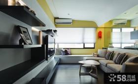 现代风格小户型客厅飘窗装修效果图