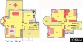 简单小别墅平面图比较