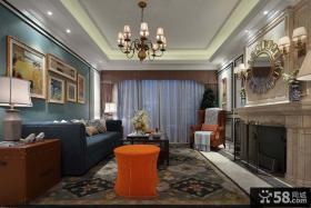 美式装修120平米三室两厅效果图大全