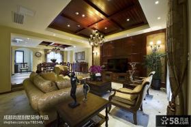 高档别墅客厅装潢图片