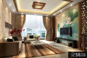 中式家装电视背景墙装修效果图大全2013图片