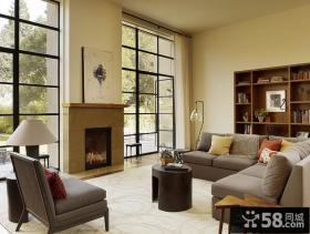 美式田园风格客厅装修图片