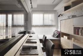 现代装修设计书房飘窗