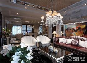 优质欧式风格客厅吊顶装修效果图大全2013图