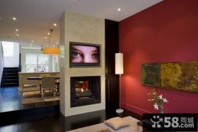 80㎡小户型婚房装修 现代风格客厅隔断效果图欣赏