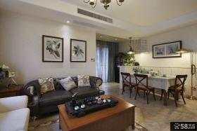 简美式风格装修两室一厅装修效果图