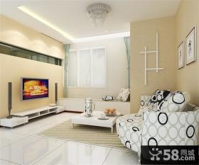 小三居客厅电视背景墙装修效果图
