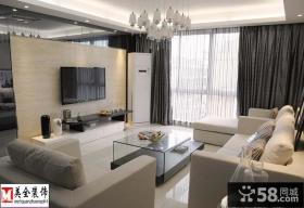简约家装客厅瓷砖电视背景墙装修效果图