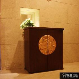 中式玄关鞋柜效果图