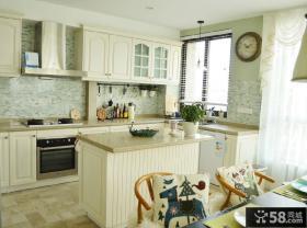 简欧风格装修开放式厨房效果图