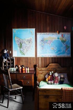 美式风格儿童房卧室装修效果图