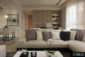 优质简约风格两室一厅户型家庭装修效果图