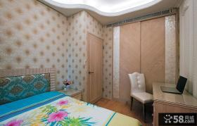 欧式豪华装修卧室隐形门效果图