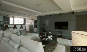 现代简约别墅客厅电视背景墙效果图大全