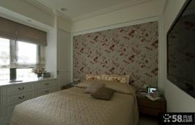 简欧风格卧室床头背景墙设计效果图