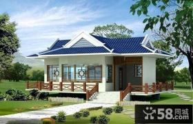 中式复古一层乡村别墅设计效果图