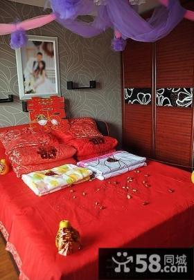 新房婚床布置图片