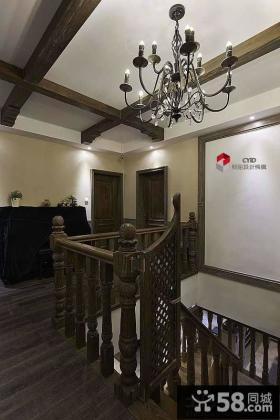 别墅楼梯吊顶装修效果图欣赏