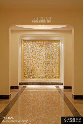 走廊镂空背景墙效果图