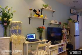 简约小户型客厅电视背景墙装修效果图片
