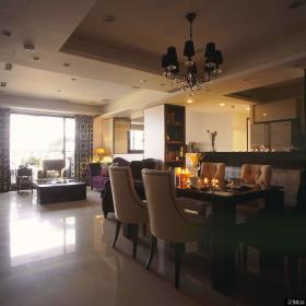 现代风格美式装修餐厅设计