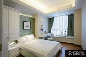 欧式卧室飘窗设计效果图