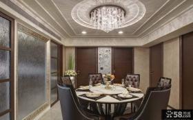 欧式风格别墅室内餐厅装饰效果图