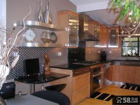 现代厨房橱柜装修效果图