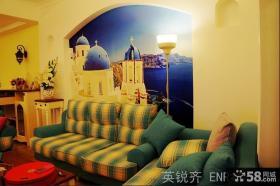 客厅沙发背景墙壁画效果图