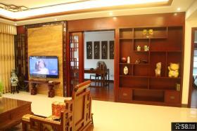 中式家居客厅家具现代博古架图片欣赏