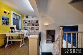 地中海风格楼梯书房装修