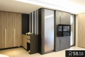 简约公寓电视背景墙设计效果图片