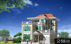 三层独栋别墅设计效果图