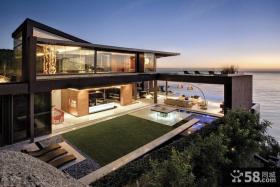奢华滨海别墅大气的阳台装修效果图大全2012图片