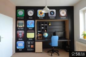 现代简约儿童房书房装修效果图