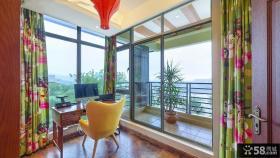 东南亚风格设计室内阳台装饰图片