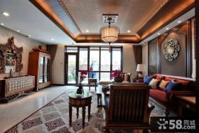 中式私人别墅高档室内装修设计效果图