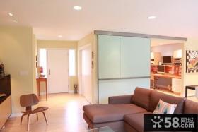 90平米小户型装修客厅玄关效果图