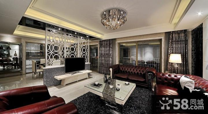 客厅欧式电视柜隔断设计