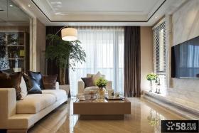 现代日式客厅电视背景墙效果图欣赏