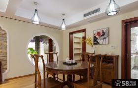 中式现代餐厅装饰室内效果图片